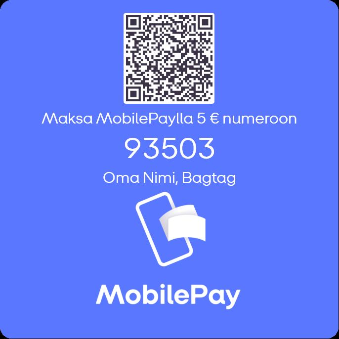 mobilepay bagtag QR-tarra