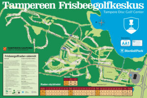 Tampereen Frisbeegolfkeskus ratakartta