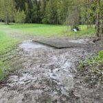 Tampereen Frisbeegolfkeskus mutainen väylän 9 tii