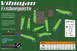 Vihiojan Frisbeepuisto ratakartta